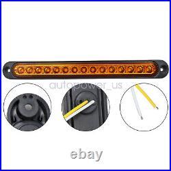 2X 10 Sealed Truck Trailer Light Bar LED Turn Signal Tail Light Strip Amber