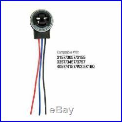 3157 4157 Wiring Harness Connector Socket For Brake Turn Signal Light LED Blubs