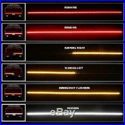48 LED Tailgate Light Bar Reverse Turn Signal Tail Emergency Light for Truck, 1x
