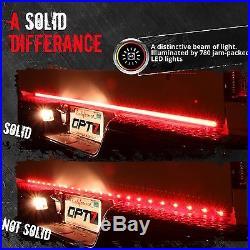48 TRIPLE LED Tailgate Bar Sequential Turn Signal Pickup Reverse Brake Light