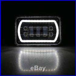 4x6 Inch Super Bright Square Led Headlight DRL Turn Signal Sealed High/Low Beam