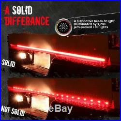 60Inch Triple Row LED Tailgate Light Bar Sequential Turn Signal Brake Lamp Rear