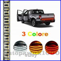 60Triple Row LED Red Amber White Car Tailgate Turn Signal /DRL/Reverse Lights