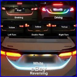 60 RGB LED Strip Car Rear Trunk Tailgate Brake Turn Signal Light Flow Type Kit