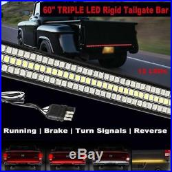 60 TRIPLE 1200 LED Rigid Tailgate Strip Bar Turn Signal Brake Backup Light Rear