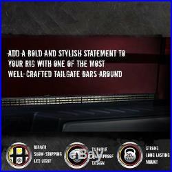 60 TRIPLE LED Tailgate Bar Sequential Turn Signal Amber Rigid Brake Light Rear