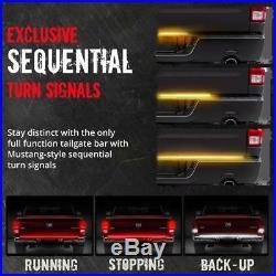 60 Tailgate 1200 LED Bar Sequential Turn Signal Back Up Brake Light Bar Rear