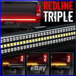 60 Triple LED Tailgate Sequential Turn Signal Rigid Brake Rear Truck Light Bar