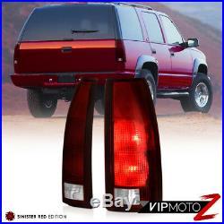 88-93 Silverado 1500 Rear Brake Lights Infinity Black Headlights Signal Parking