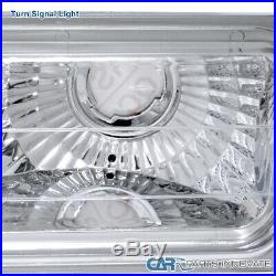 94-98 C10 C/K Tahoe Suburban Silverado Clear Headlights+Bumper Corner Lamps Pair