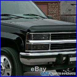 94-98 Chevy C10 C/K 1500 Tahoe Silverado Smoke Headlights with Bumper Corner Lamps