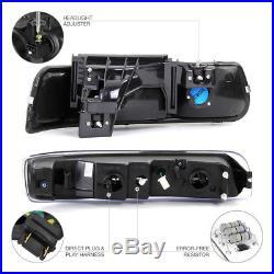 99 00 01 02 Chevy Silverado Smoke DRL Parking Headlights Lower Bumper Foglights