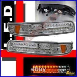 99-02 Chevy Silverado 00-06 Suburban Tahoe LED Bumper Signal Lights Lamps