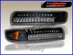 99-02 Chevy Silverado BLK Full LED Bumper Signal Lights