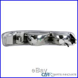 99-02 Silverado 00-02 Tahoe Suburban Halo LED Projector Headlights+Bumper Lamps