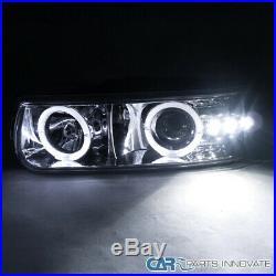 99-02 Silverado 00-06 Suburban Tahoe Chorme Projector Headlights+LED Bumper Lamp