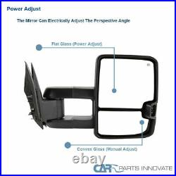 99-02 Silverado Sierra Power Heated Towing Mirrors+Amber LED Turn Signal Lights