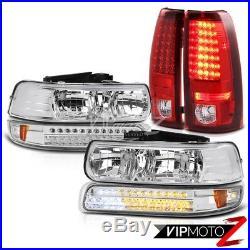 99-2002 Chevy Silverado 2500HD Pair New Headlight Parking LED Signal Tail Lights