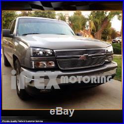 BLACK 2003-2006 Chevy Silverado 1500 2500 3500 Head Light+Signal Bumper Lamp
