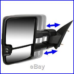 BLACK MANUAL EXTENDED TOWING MIRROR+TURN SIGNAL WithO HEATED FOR 03-06 CHEVY/GMC