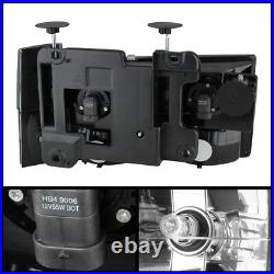 Black 1988-1993 Chevy Silverado GMC Sierra C/K Headlights+Corner+Bumper Lamps