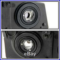 Black 2003-2006 Chevy Silverado Avalanche Headlights+Bumper Signal Parking Lamps