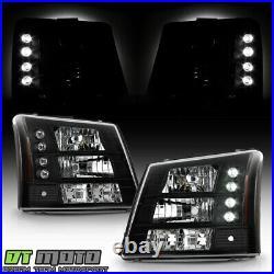 Black 2003-2006 Chevy Silverado Suburban (Range Rover Style) 2in1 LED Headlights