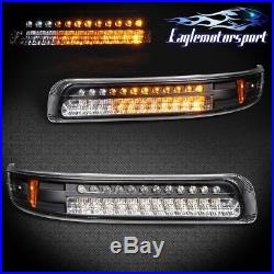 Black Amber Parking/signal Lights 99-02 Chevy Silverado L. E. D