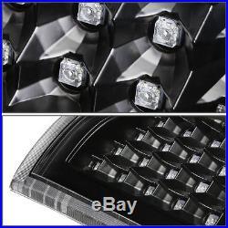Black Clear Full Led Tail+3rd Brake&cargo Light For 03-07 Chevy Silverado/sierra