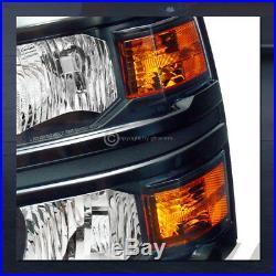 Black Clear Headlights withTurn Signal Amber Dy 2014-2015 Silverado 1500 Gmt K2Xx