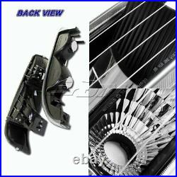 Black Headlights+Bumper Clear Reflector Lamps For 99-02 Silverado/Suburban/Tahoe