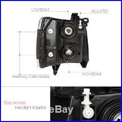 Black Housing Headlight Amber Turn Signal Reflector for 07-13 Chevy Silverado