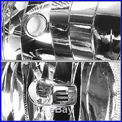 Black Housing Headlight+clear Turn Signal Lamps Set For 07-13 Chevy Silverado