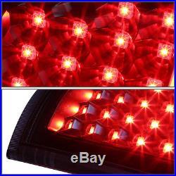 Black Red Led Tail+smoked 3rd Brake&cargo Light For 03-07 Chevy Silverado/sierra