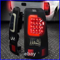 Black Smoked 3d Led Bar Tail+3rd Brake&cargo Light For 03-07 Silverado/sierra