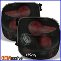 Black Smoked Fits 99-04 Silverado Sierra Stepside Tail Lights Replacement