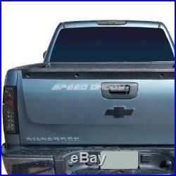 Black Smoked Full Led Tail+3rd Brake&cargo Light Set For 03-07 Silverado/sierra