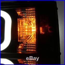 Brightest Dual DRL Tube Fits 2014-2016 Silverado Black Projector Headlights