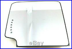 Chevrolet GMC LH Driver Side View Trailer Tow upper Mirror Glass heated new OEM