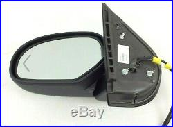 Chevrolet Silverado GMC Sierra Driver Side View DL3 Power Folding Chrome Mirror