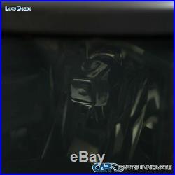 Chevy 14-15 Silverado 1500 Pickup Smoke Lens Headlights Tinted Head Lamps Pair
