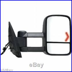 Chevy/ Gmc 2007-2014 Power Heated Turn Signal Tow Mirror Passenger/ Right Side