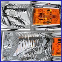 Chrome Headlamp Head Light Amber Turn Signal Mark For 14-15 Silverado Gmt K2xx