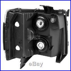 Chrome Headlight+clear Turn Signal+led Drl 8 Smd Fog Light For 07-13 Silverado