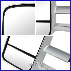 Chrome Manual Side Towing Mirrors LED Turn Signal for Silverado Sierra 07-14
