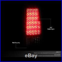 Chrome Red Led Tail+clear 3rd Brake&cargo Light For 03-07 Silverado/gmc Sierra