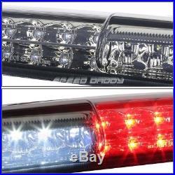 Chrome Smoked Full Led Tail+3rd Brake&cargo Light Set For 03-07 Silverado/sierra