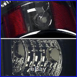 Chrome Smoked Led Tail+black 3rd Brake&cargo Light For 03-07 Silverado/sierra