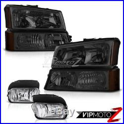 Dark Front Headlight Bumper Corner Lamp 03-06 Silverado DuraMax Driving Foglight