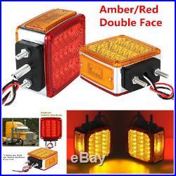 Double Face Stud Mount Pedestal Cab Fender Stop Turn Signal Tail Light Car Truck